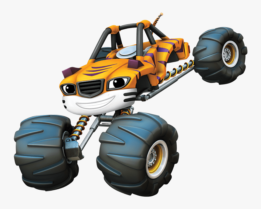 Blaze And The Monster Machines Stripes Blaze Monster Truck Yellow Hd Png Download Transparent Png Image Pngitem