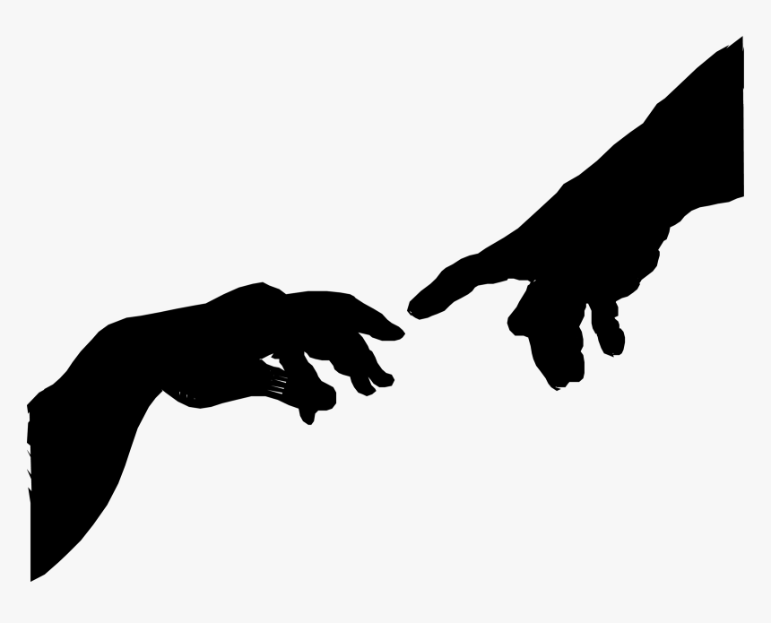 The Creation Of Adam Hand Silhouette By Eryc Tri Juni Creation Of Adam Png Transparent Png Transparent Png Image Pngitem