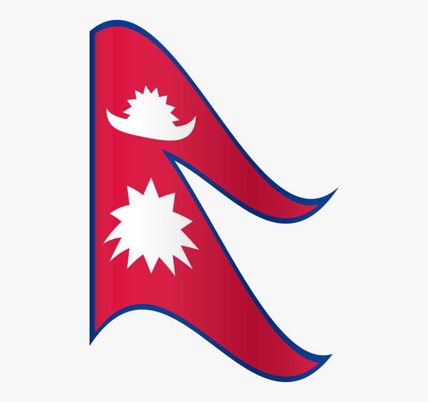 Vector Flag Of Nepal Waving Flag Nepal Flag Logo Png Transparent Png Transparent Png Image Pngitem