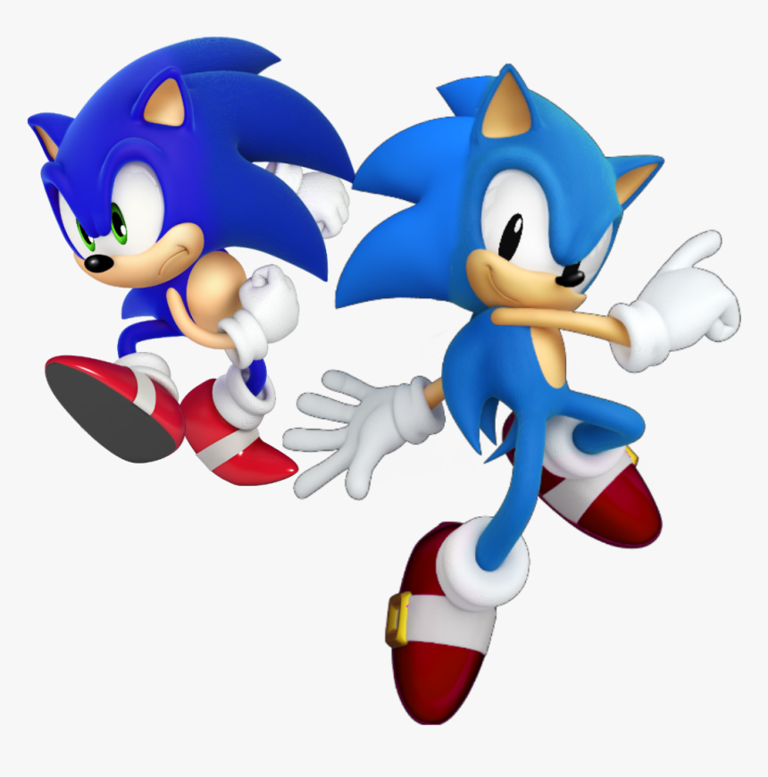 Classic Sonic Png Sonic The Hedgehog Classic And Modern Transparent Png Transparent Png Image Pngitem