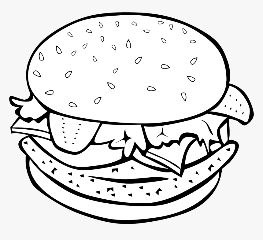 Food Clipart Png Black And White