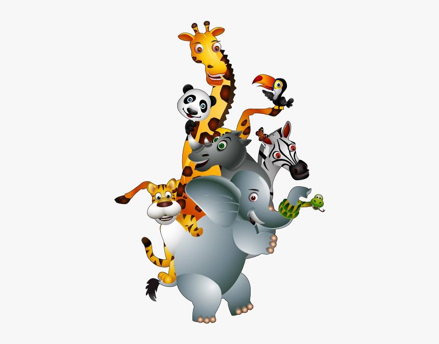Desenhos Coloridos De Safari Clip Art Group Of Animals Hd Png