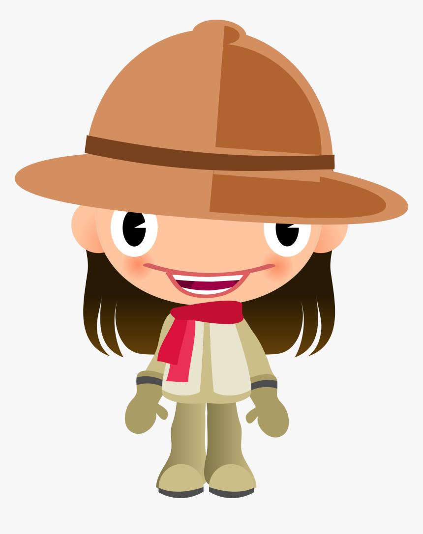 Desenhos Coloridos De Safari Girl With A Hat Clipart Hd Png