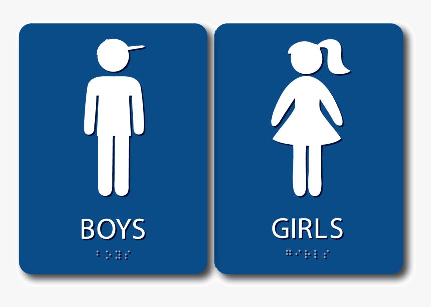 Boy S Girl S Restroom Sign Bundle Blue Bathroom Sign Mans And