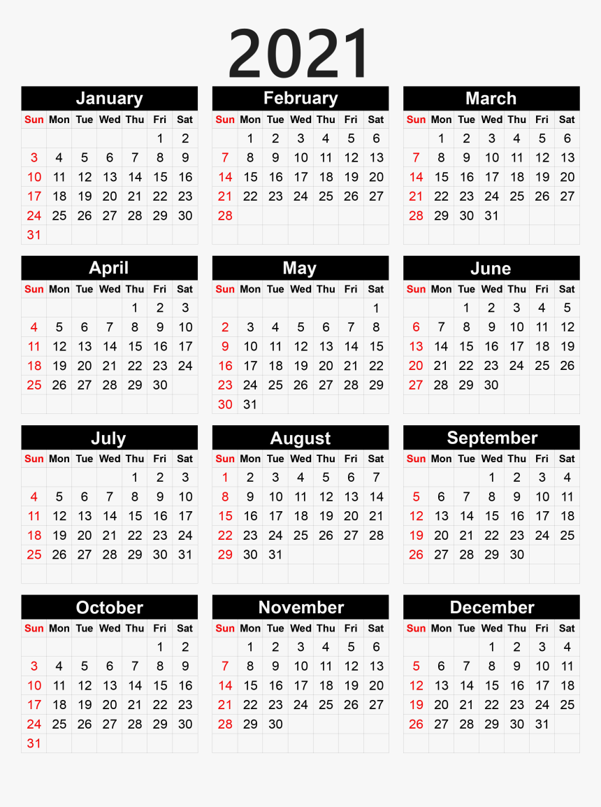 2021 Pocket Calendar Printable Calendar 2021 Png   Pocket Calendar 2020 Printable, Transparent