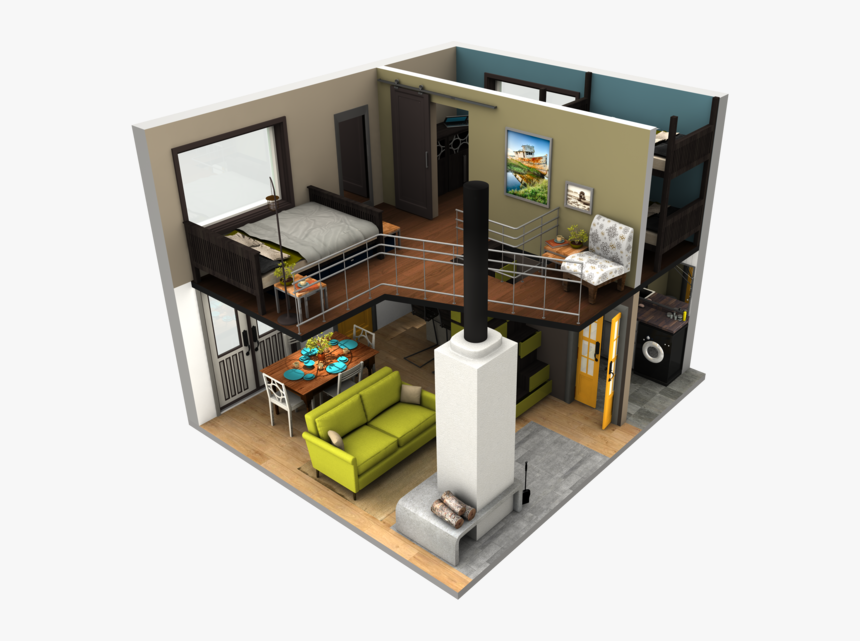 Tinyhousebigloft4 Sims 4 Tiny House Layout Hd Png Download Transparent Png Image Pngitem