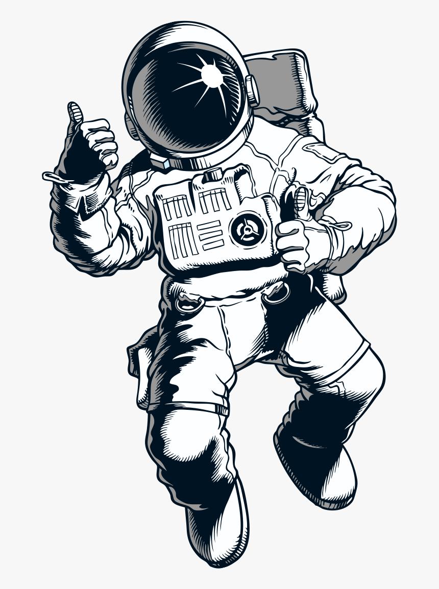 Sketsa Astronot HD Download Transparent Image