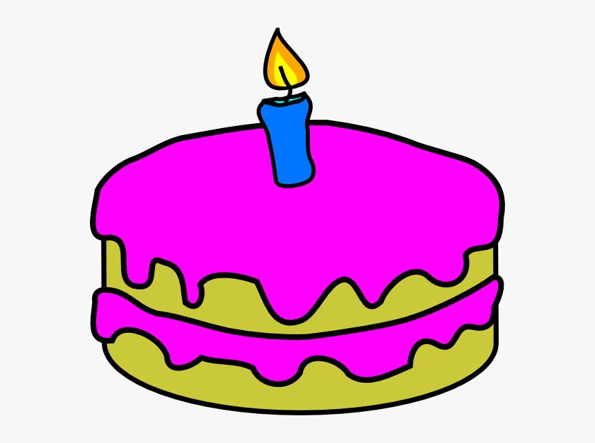 Transparent Birthday Cake Cartoon Png Birthday Cake 1 Candle Png Download Transparent Png Image Pngitem