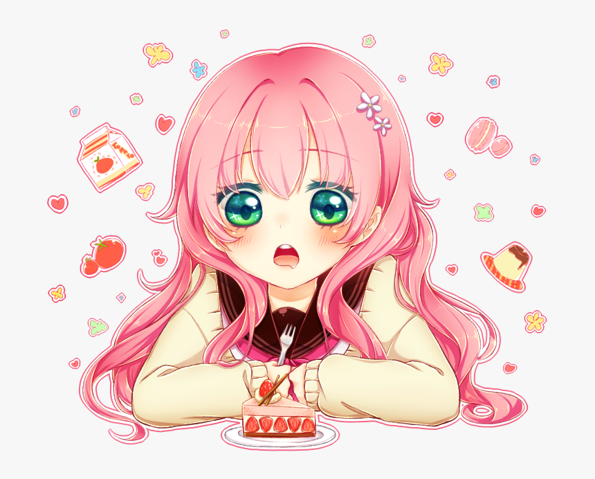 Transparent Happy Anime Girl Png - Anime Girl Happy ...