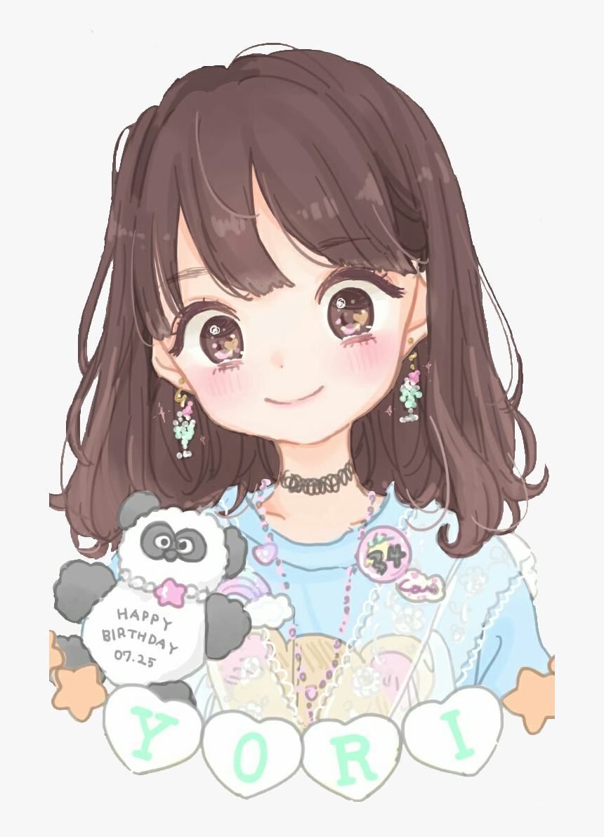 Transparent Happy Anime Girl Png - Cute Anime Girl Colored, Png