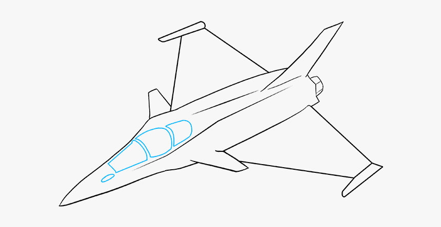 How To Draw Jet Fighter Jet Drawing Easy Hd Png Download