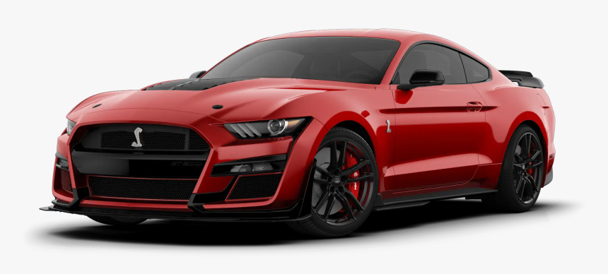 2020 Ford Mustang Shelby Gt500 Rapid Red - 2020 Ford Mustang Shelby Gt500  Black, HD Png Download , Transparent Png Image - PNGitem