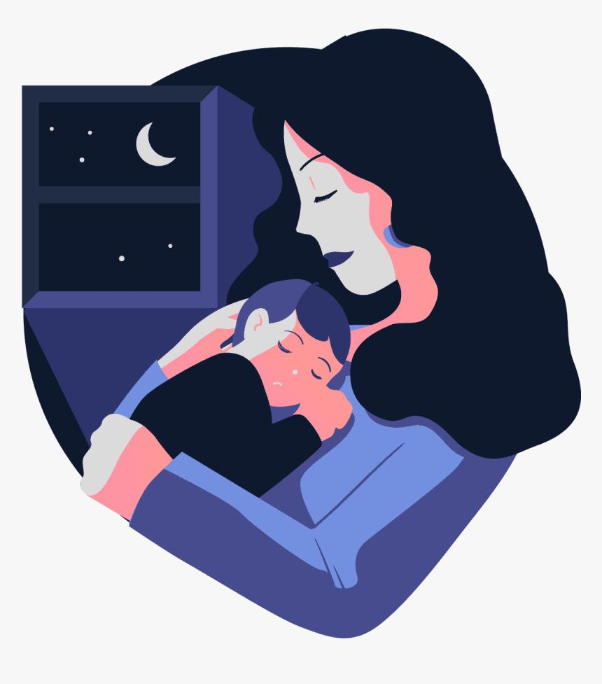 Mom Sleeping Baby Transparent Sleep App Illustration Hd Png Download Transparent Png Image Pngitem