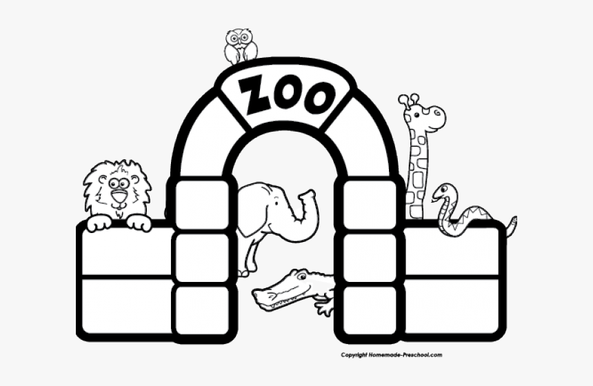 Zoo Entrance Clipart Black And White Hd Png Download Transparent Png Image Pngitem