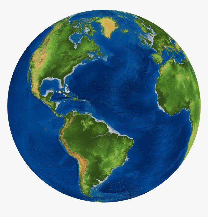 Earth Globe World Map - World Earth, HD Png Download ...