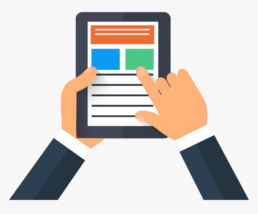 Check Clipart Rent Payment - Ipad Illustration Png, Transparent ...