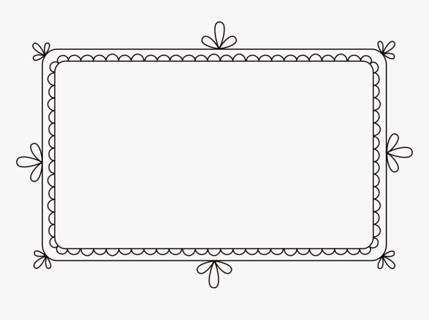 Square Scalloped Edge Clipart Doodle Banner Png Transparent Png Transparent Png Image Pngitem