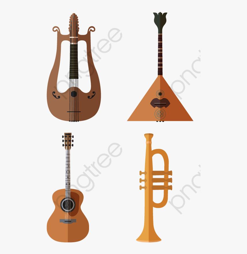 Trumpet Guitar Cello Instrument Guitar Vector Small Hd
