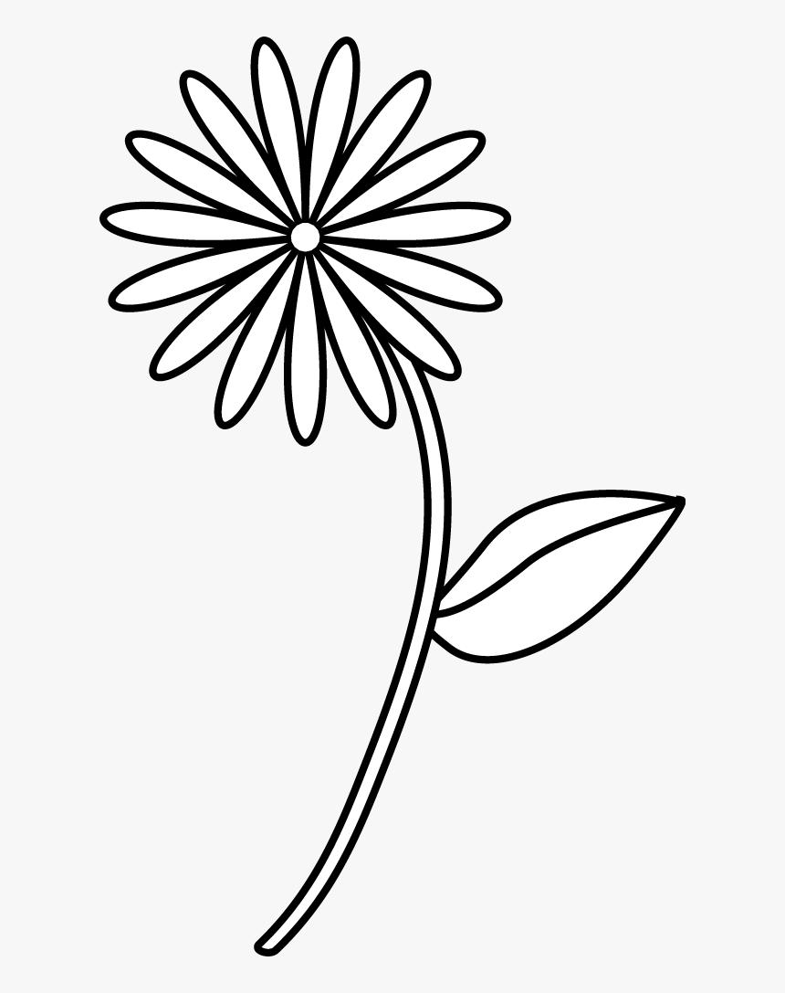 Simple Flower Drawings Simple Flower Drawing Easy Hd Png Download Transparent Png Image Pngitem