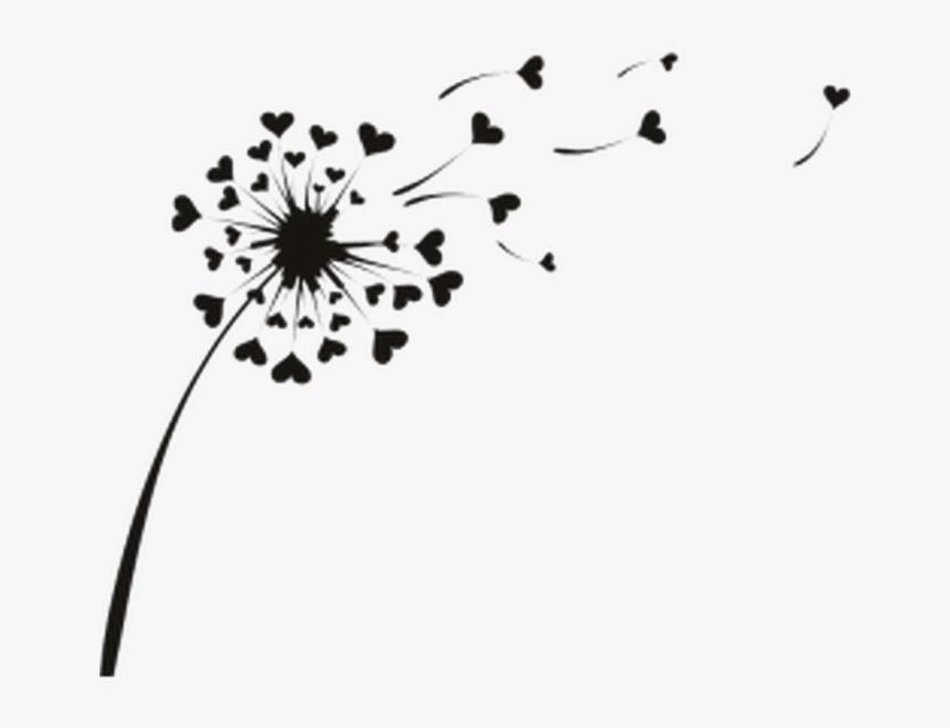 Love Heart Dandelion Flowers Wall Sticker Decal Dente De Leao