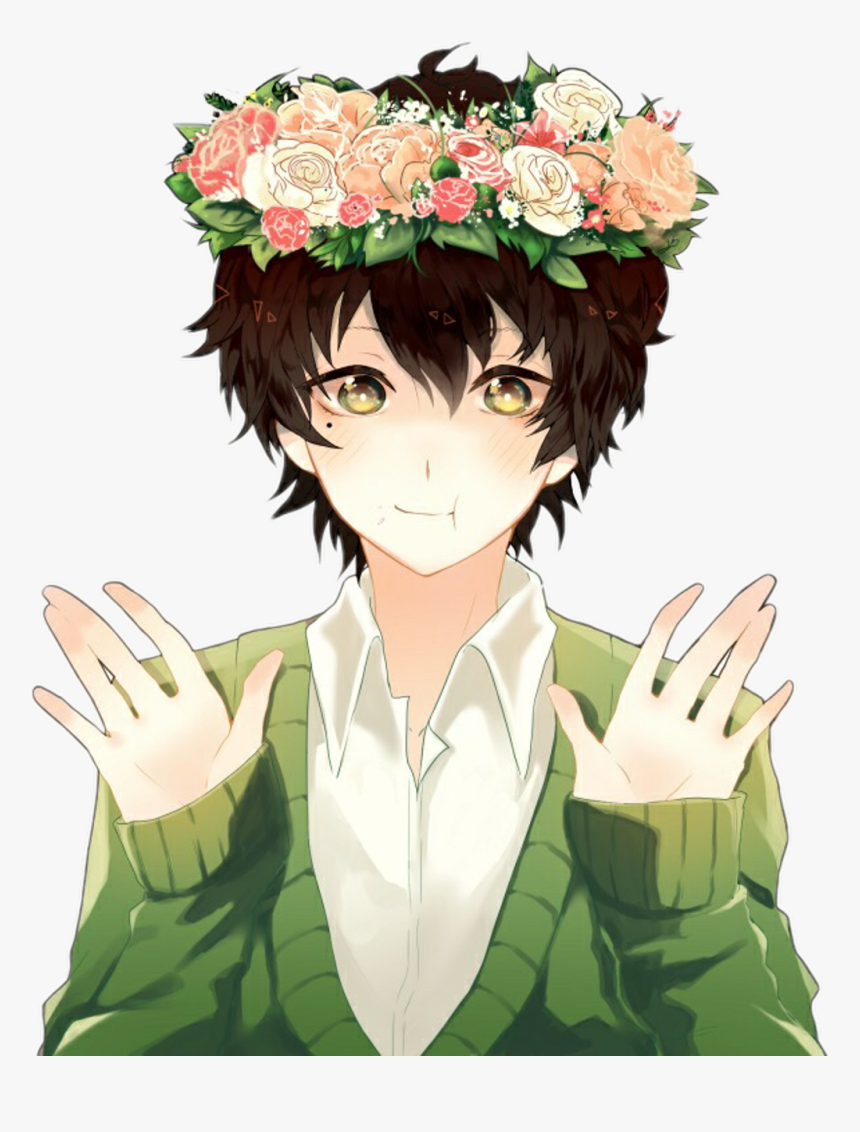 Hair Plant Hand Brown Character Art Cute Anime Boy With Black