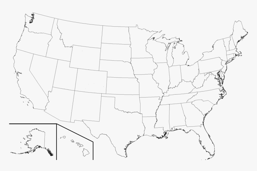 Black And White Us Map Transparent United States Clipart Black And White   High