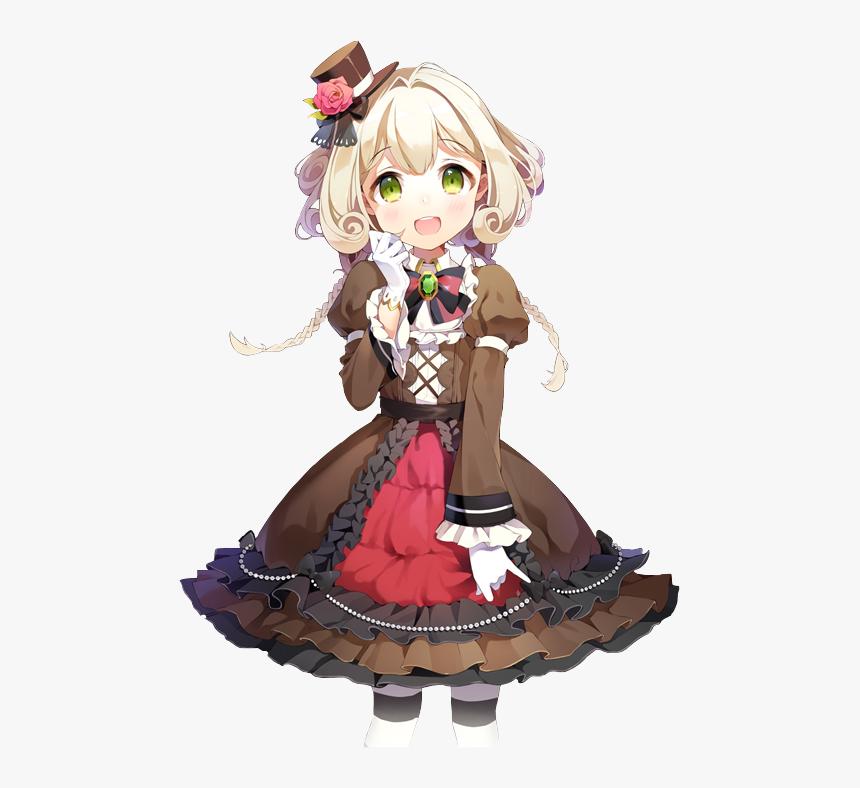 Cute Anime Christmas Girl With Brown Hair And Silver Anime Girl