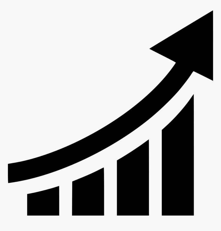 Chart Graph Line Arrow Line Graph Arrow Icon Hd Png Download