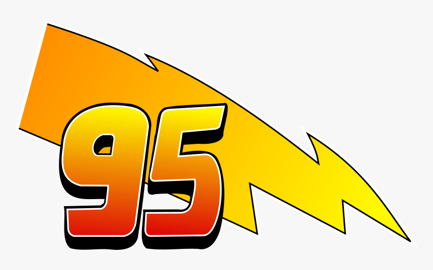transparent lightning vector png lightning mcqueen 95 logo png download transparent png image pngitem lightning mcqueen 95 logo png download