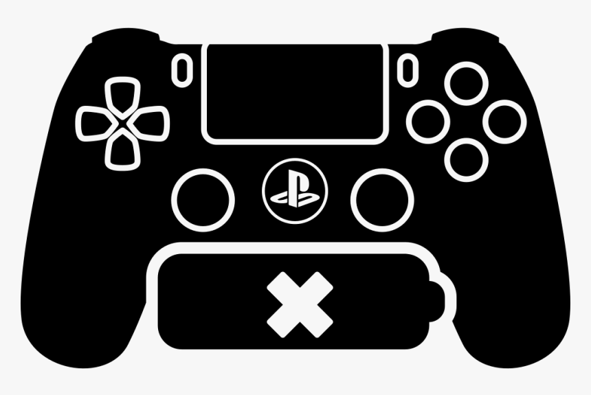 Ps4 Game Control With No Battery Playstation 4 Silhouette Hd Png Download Transparent Png Image Pngitem