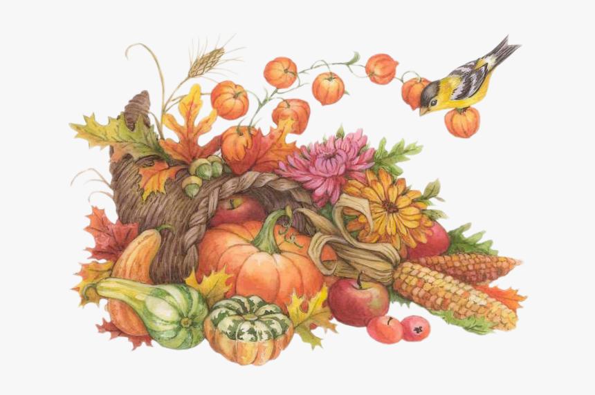 Cornucopia Clipart Service - Thanksgiving Watercolor Clip ...