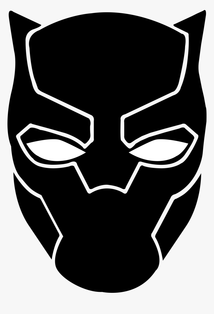 Clip Art Avengers Svg Freeuse Black Panther Face Drawing Hd Png Download Transparent Png Image Pngitem