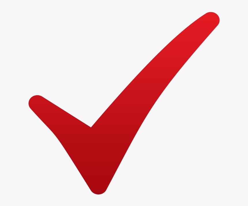 Checklist Symbol Png - Red No Background Check Mark, Transparent Png , Transparent Png Image - PNGitem