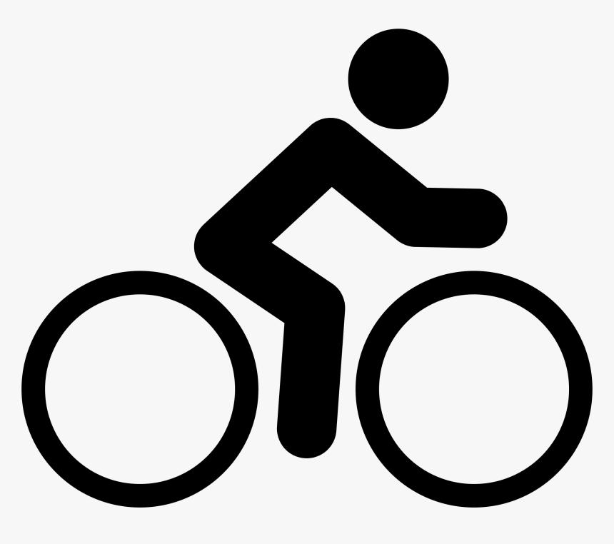 Bicycle Big Image Png Biker Cycling Clipart Black And White Transparent Png Transparent Png Image Pngitem