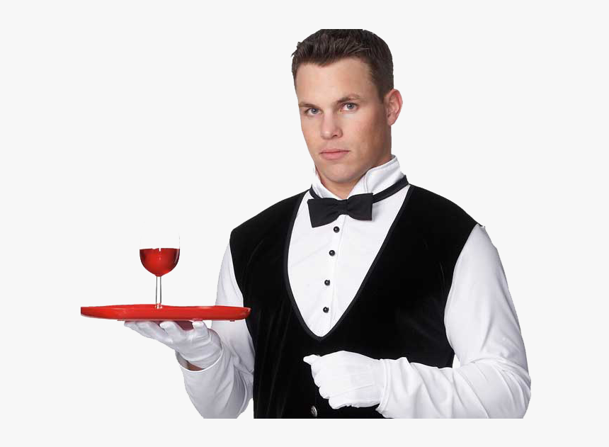 Transparent Waiter Silhouette Png Hotel Waiter Png Download Transparent Png Image Pngitem