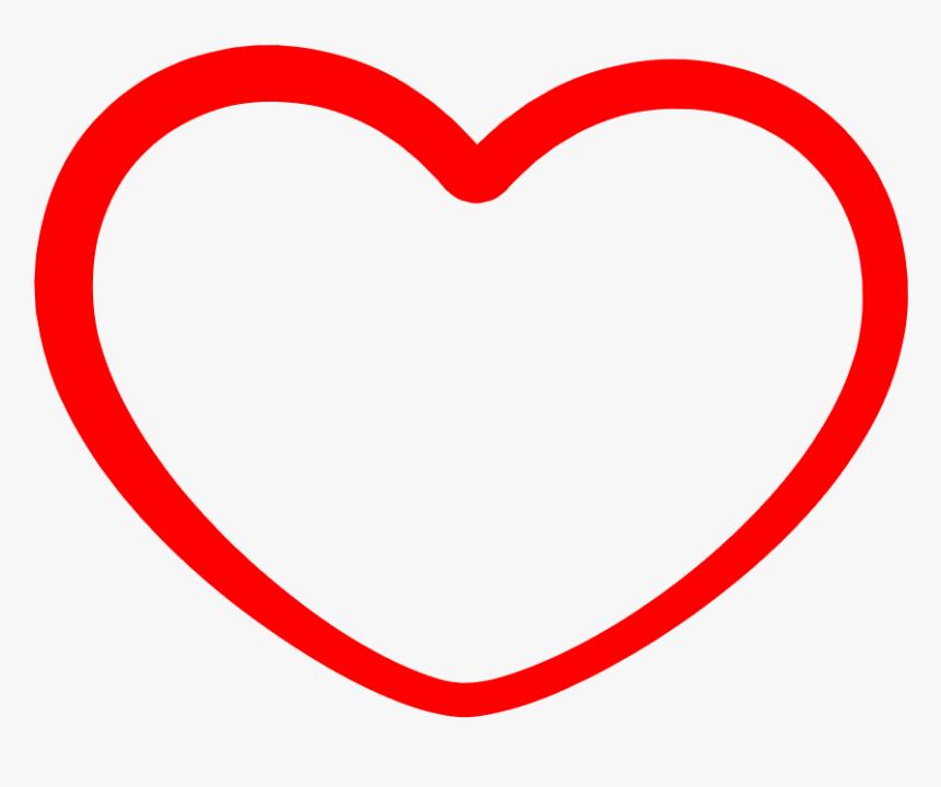 Heart Png Outline Transparent Red Heart Outline Transparent Background Png Download Transparent Png Image Pngitem