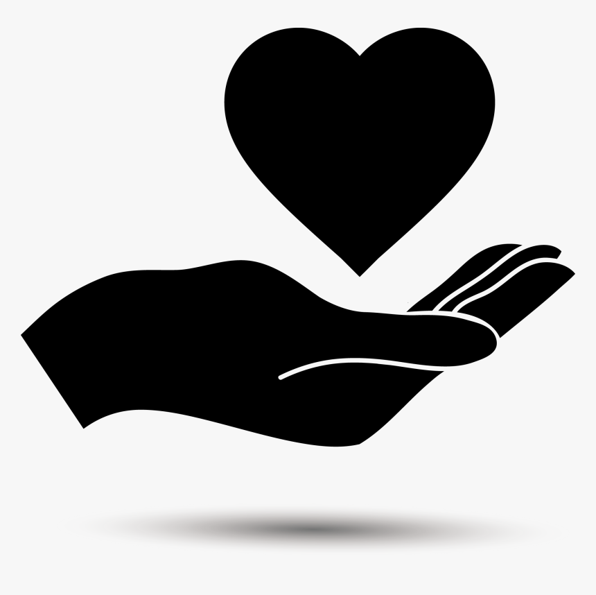 Holding Love Silhouette Png Download Hand With A Heart Transparent Png Transparent Png Image Pngitem Painting art love drawing illustration, hand drawn silhouette png. holding love silhouette png download