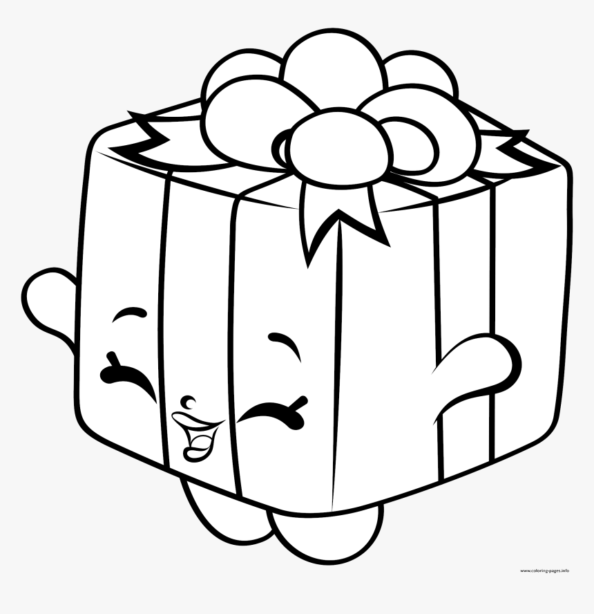 Shopkins Clipart Coloring Pages Printable Transparent - Shopkins Christmas Coloring  Pages, HD Png Download , Transparent Png Image - PNGitem
