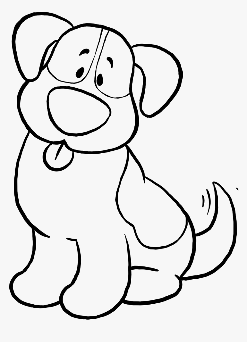 - Dog Simple Coloring Page, Printable Dog Simple Coloring, - Dog