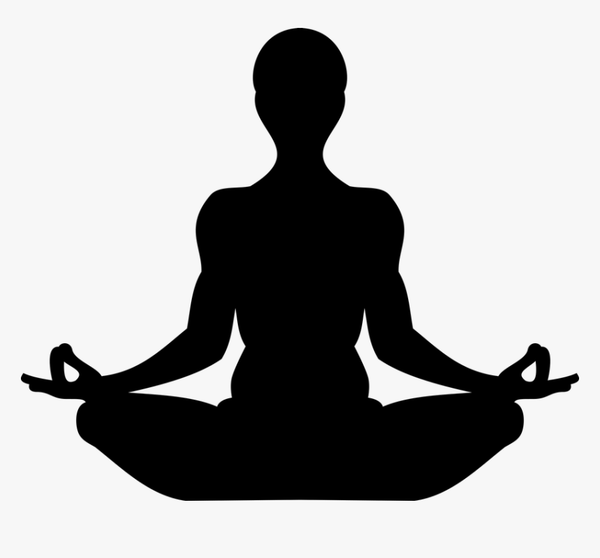 Yoga Silhouette Meditation Relax Mudra Calm Symbol For Being Present Hd Png Download Transparent Png Image Pngitem