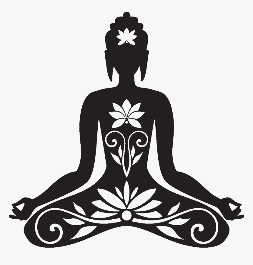 Dessin Bouddha Noir Et Blanc Hd Png Download Transparent