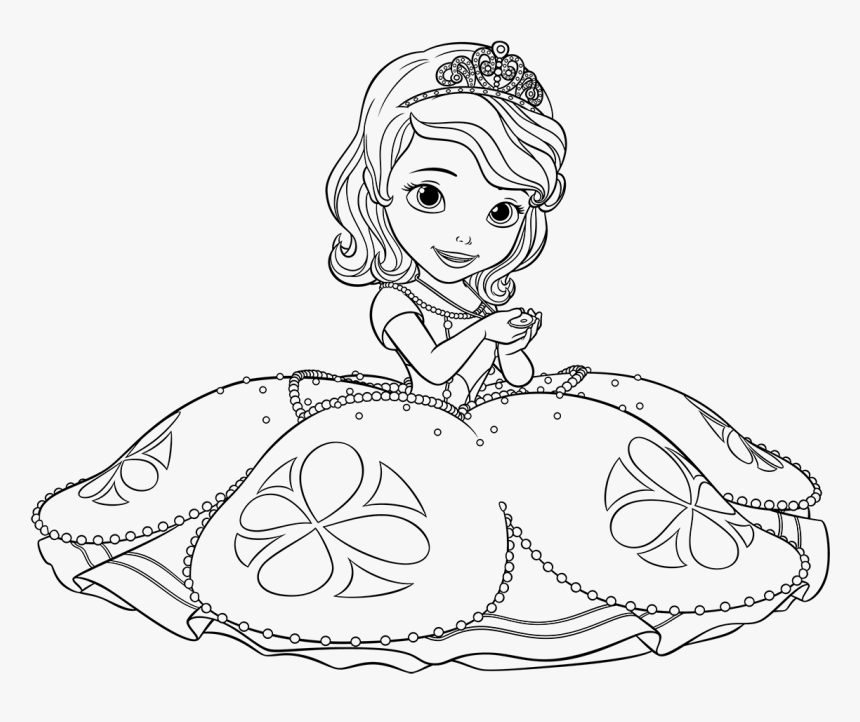 Disney Junior Coloring Pages Sofia The First Princesa Sofia Para