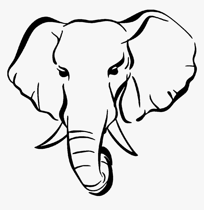Elephant Drawing Silhouette Henna Clip Art Black And White Elephant Head Clip Art Hd Png Download Transparent Png Image Pngitem