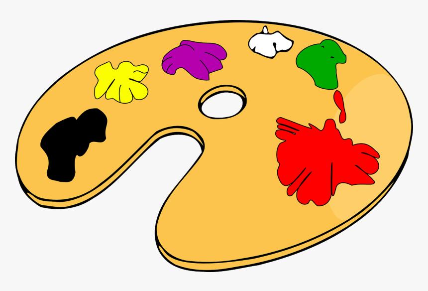Wood Palette, Paint, French, Cartoon, Color, Colour, - Paint Palette Clip  Art, HD Png Download , Transparent Png Image - PNGitem