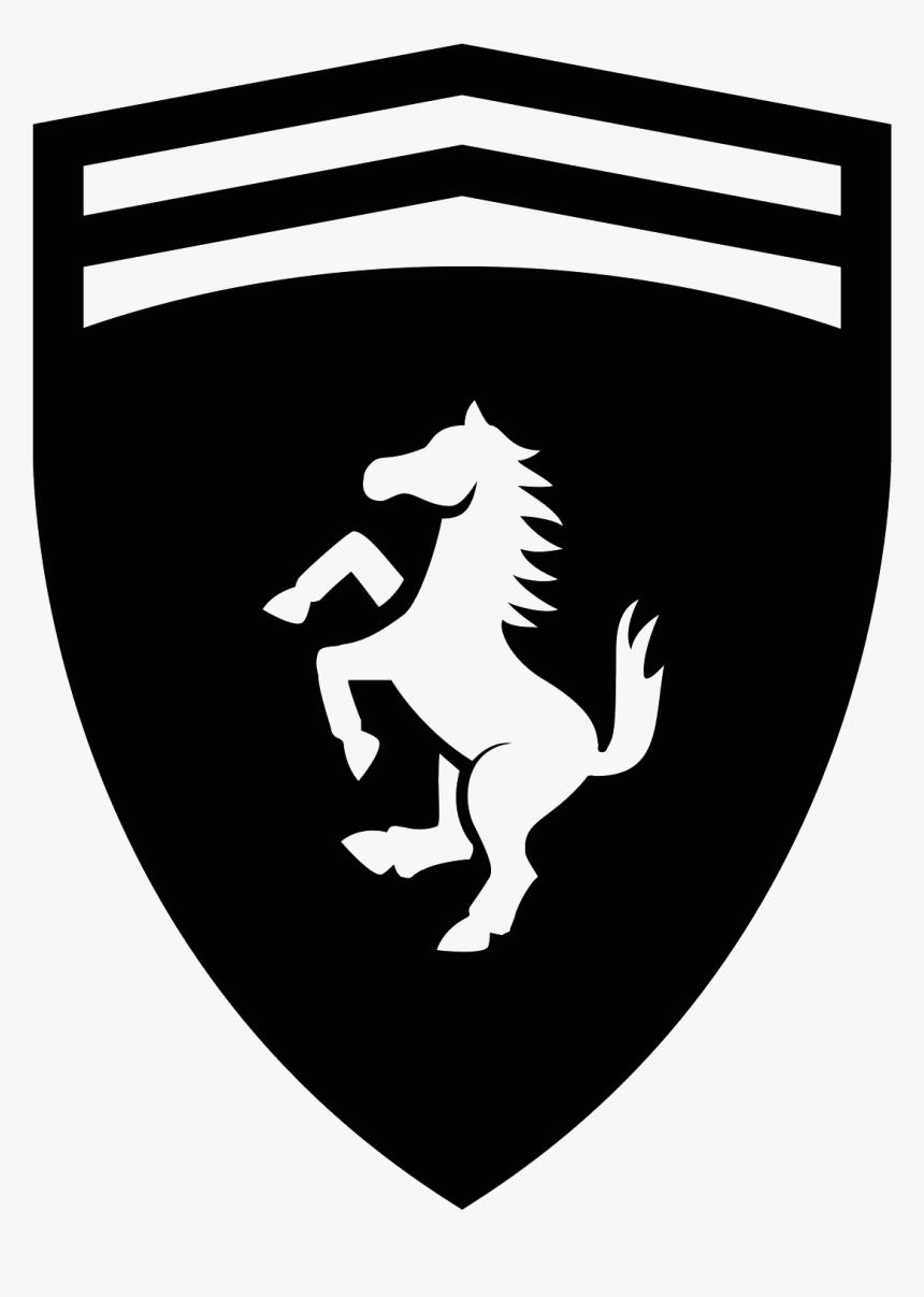 Transparent Ferrari Horse Png Ferrari Logo Black And White Png Download Transparent Png Image Pngitem