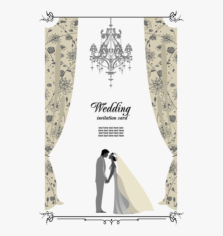 Transparent Free Wedding Clipart For Invitations Vector Wedding Invitation Card Hd Png Download Transparent Png Image Pngitem