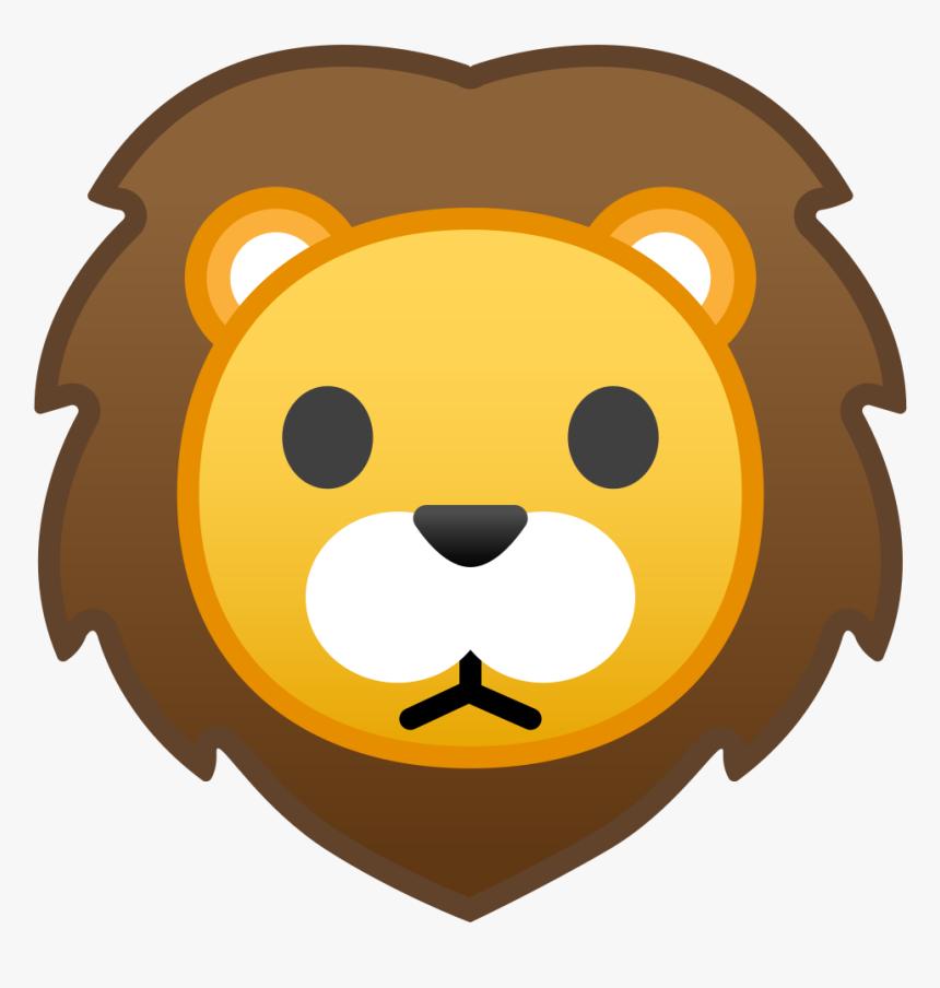 Lion Face Icon - Transparent Background Lion Emoji, HD Png ...