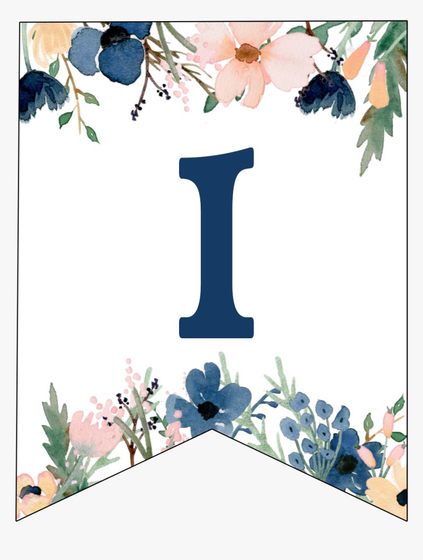 Blue Pink Floral Banner Letters Free Printable Letter H Banner Design Hd Png Download Transparent Png Image Pngitem