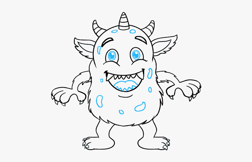 How To Draw Cartoon Monster Scary Monster Drawings Easy Hd Png Download Transparent Png Image Pngitem