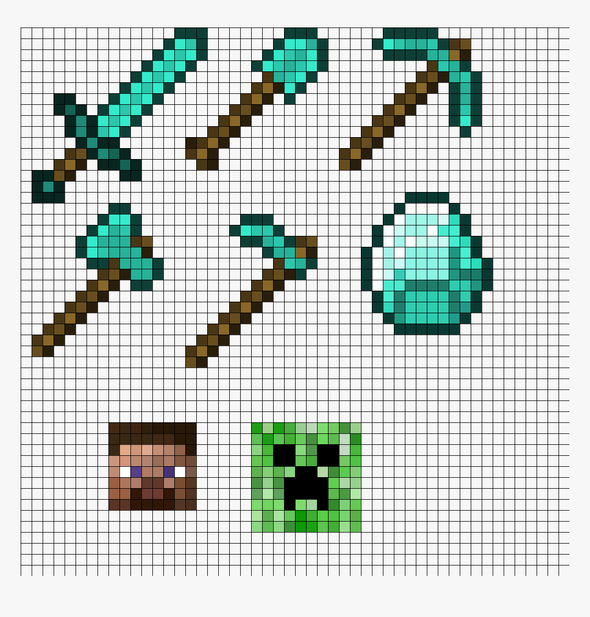 Minecraft Perler Bead Patterns Basteln Bugelperlen